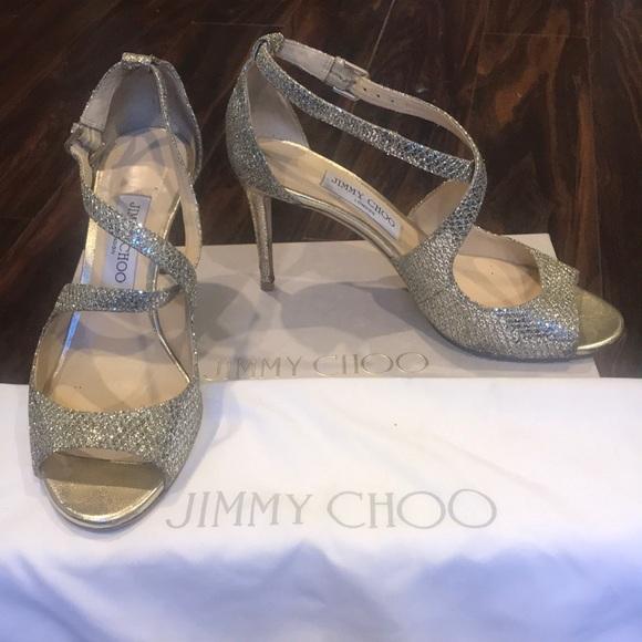 Jimmy Choo Emily 85 Champagne Glitter